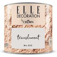 ELLE DECORATION by Crown Wandfarbe Translucent No. 502 matt 125ml