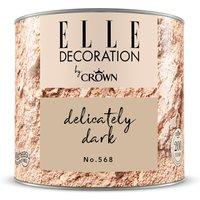 ELLE DECORATION by Crown Wandfarbe Delicately Dark No. 568 matt 125ml