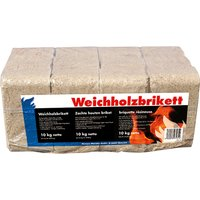 Holzbriketts Weichholz eckig je 10 kg x 3 Stück 30 kg Paket