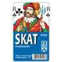 Klassisches Skatspiel, Französisches Bild, 32 Karten in Klarsicht-Box