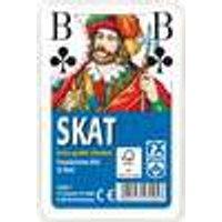 Klassisches Skatspiel, Französisches Bild mit großen Eckzeichen, 32 Karten in Klarsicht-Box