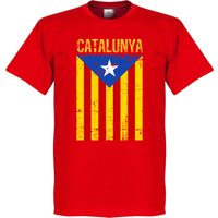 Catalunya Vintage T-shirt - Red - XXL