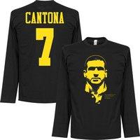 Cantona Silhouette Long Sleeve T-shirt - Black/Yellow - L
