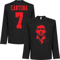 Cantona Silhouette Long Sleeve T-shirt - Black/Red - M