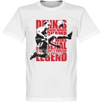 Dennis Bergkamp Legend T-shirt - White - S