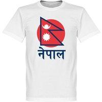 Nepal Flag T-Shirt 2 - White - XXXL