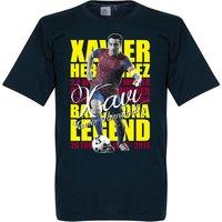 Xavi Hernandez Legend T-shirt - Navy - XXXL