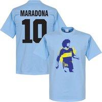 Boca Maradona No. 10 T-Shirt - Sky - XXL
