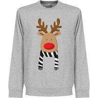 Reindeer Black / White Supporter Sweatshirt - Grey - XL