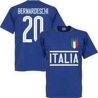 Italy Bernardeschi Team T-Shirt - Royal - S