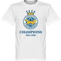 Leicester Foxes Champions 2016 T-shirt - White - XXXL