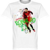 Ronaldo Motion KIDS T-shirt - White - 2