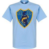 Maradona Boca Crest T-Shirt - Sky - XS