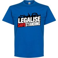 Legalise Safe Standing T-Shirt - Royal - M