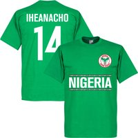 Nigeria Iheanacho 14 Team T-Shirt - Green - S