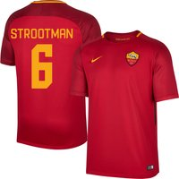 AS Roma KIDS Home Strootman 6 Shirt 2017 2018 (Fan Style Printing) - 158-170