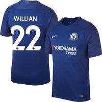 Chelsea Home Stadium Willian No22 Shirt 2017 2018 (Official Premier League Printing) - S