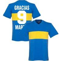 1960's Boca Juniors Retro Shirt + Gracias Martin 9 - L