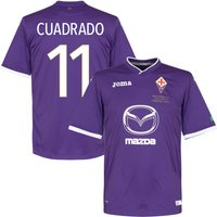 2014 Fiorentina Home 'TIM Cup Final' Shirt + Cuadrado 11 (Fan Style) - S