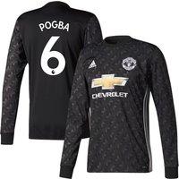 Man Utd Away L/S Pogba No6 Shirt 2017 2018 (Official Premier League Printing) - 58