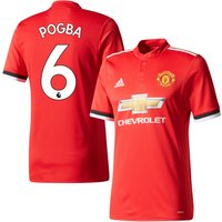 Man Utd Home Pogba 6 Authentic Shirt 2017 2018 (Official Premier League Printing) - 46