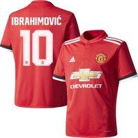 Man Utd Home Ibrahimovic 10 Shirt 2017 2018 (Official Cup Printing) - 66