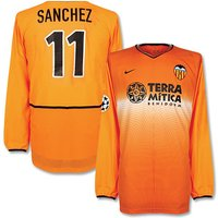 02-03 Valencia Away C/L L/S Shirt + Sanchez No. 11 - L