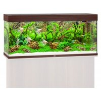 Juwel Rio 240 LED Komplett Aquarium ohne Schrank dunkles holz
