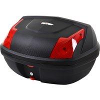 HOMCOM 48L Motorcycke Trunk Travel Luggage Storage Box, Can Store Helmet