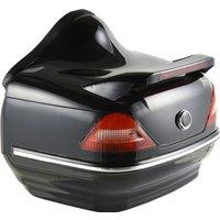 HOMCOM 26L Streamline Plastic Motorcycle Trunk w/ Reflector Red/Black