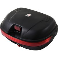 HOMCOM 48L Motorcycke Trunk Travel Luggage Portable Storage Box, Can Store Helmet