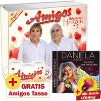 Amigos-Melodien der Herzen PLUS GRATIS Tasse + Daniela Alfinito - Du warst jede Träne wert PLUS GRATIS LED-Ring