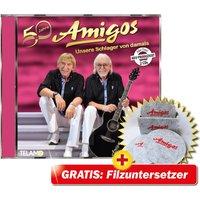 50 Jahre - Unsere Schlager von damals + Filzuntersetzer mit Halter Amigos