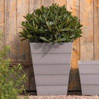 Laurus nobilis and mews planters grey set of 2 combination