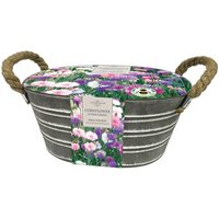 cornflower Polka Dot mixed in a rope handled trough gift set