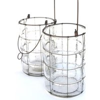 Blown glass lantern low