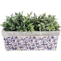 Aged ceramic trough 39.5 x 15 x 16
