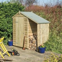 Product photograph showing Oxford Shed With Lean To