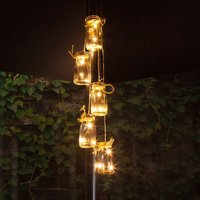 Product photograph showing 5 Bottles Led Parasol Cluster Lights