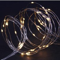 Solar warm white LED copper wire multi function lights