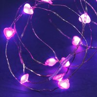 50 solar copper wire heart multi function LEDs