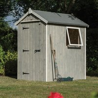 Product photograph showing Heritage 6 X 4 Shed 2140 X 1400 X 1890