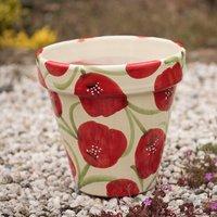 Poppy glazed planter large - 29cm