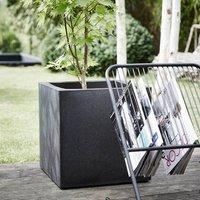 Cadix black square planter
