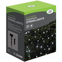 Product photograph showing Solar Led String Lights 50 White