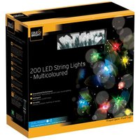 Product photograph showing Dual Power 200 Led String Lights