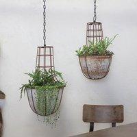 Abari caged hanging planter