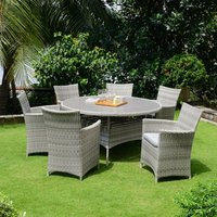 Product photograph showing Lifestyle Garden Aruba 6 Seat Dining Set