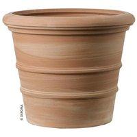 Planter vaso siena ribbed terracotta