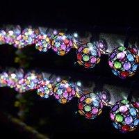 10 solar multi glow gem lights
